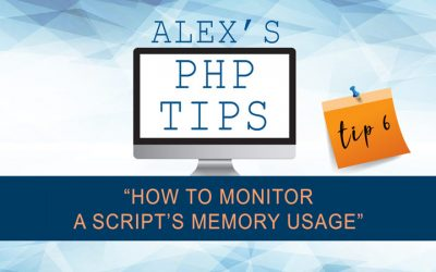 PHP tip 6: how to monitor a script's memory usage