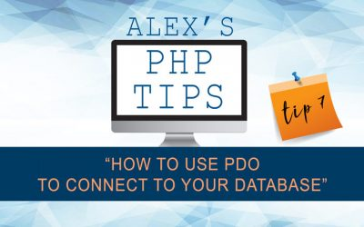 PHP tip 7: how to use PDO to connect to your database