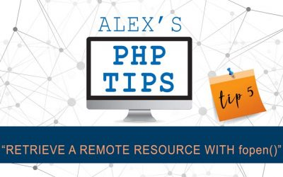 PHP tip 5: retrieve a remote resource with fopen()