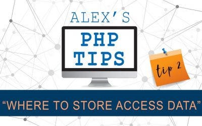 PHP tip 2: Where to store access data