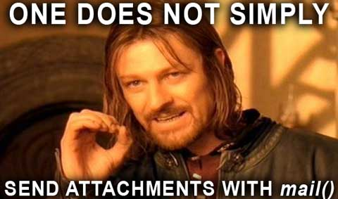Send attachments with mail()