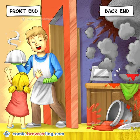font-end vs back-end