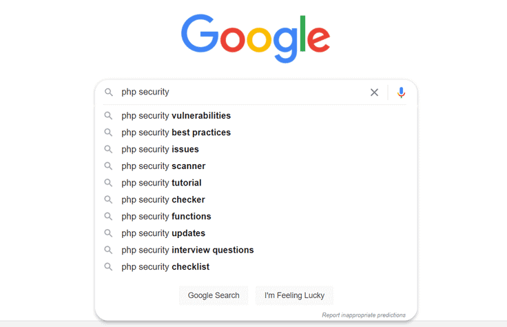PHP security search